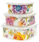 Mackenzie Childs MacKenzie-Childs Flower Squarage Bowls - Set of 3