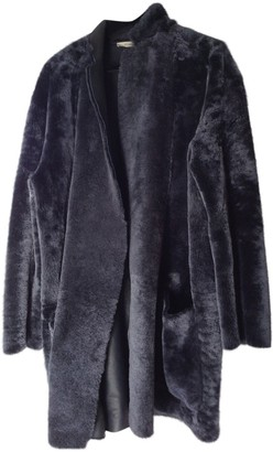 Celine Blue Fur Coat for Women
