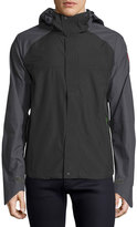 Canada Goose Alderwood Hooded Nylon Shell Jacket, Black