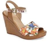 Johnston & Murphy Women's Maren Cross Band Wedge Sandal