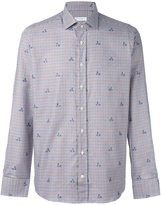 Etro checked floral print shirt
