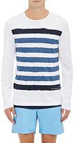 Orlebar Brown Men's Stripe-Print Cotton Long-Sleeve T-Shirt-LIGHT BLUE, WHITE