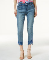 INC International Concepts Embroidered Curvy Skinny Jeans, Only at Macy's