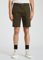 Thumbnail for your product : Paul Smith Men's Dark Green Garment-Dyed Stretch Shorts