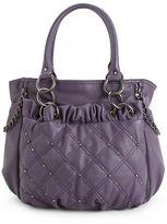 Handbag, Studded Quilted Shopper