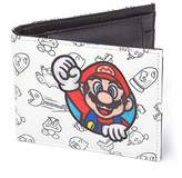 Bioworld Nintendo Super Mario Bros. Patch With All-Over Pattern Bi-Fold Wallet, (Mw060205Ntn) Credit Card Case, 17 cm, White