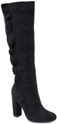 Journee Collection Womens Vivian Block Heel Zip Boots