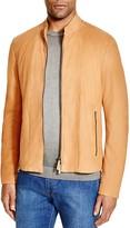 Armani Collezioni Slim Fit Lamb Leather Jacket