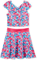 Blush by Us Angels 2-Pc. Floral Top & Skirt Set, Big Girls (7-16)