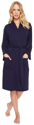 N by Natori French Terry Nvious Robe (Midnight Navy) Women's Robe