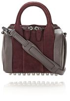 Alexander Wang Mini Rockie In Nubuck Beet And Soft Pebbled Stone