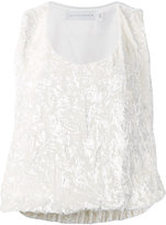 Victoria Beckham crinkled top - women - Silk/Polyester/Spandex/Elastane/Viscose - 8
