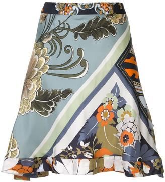Chloé Patchwork Print Skirt