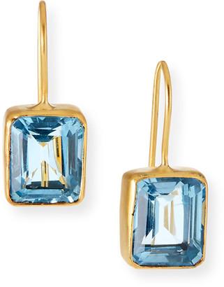 Dina Mackney Blue Topaz Drop Earrings