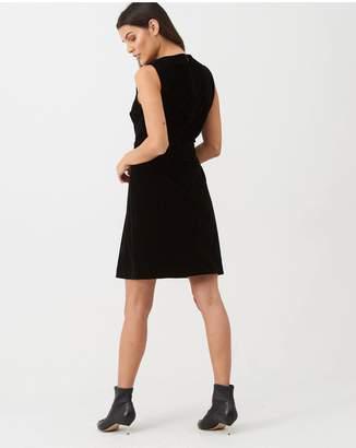 Warehouse Velvet Dress - Black