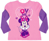 Freeze Candy & Grape Minnie Mouse Layered Tee - Toddler & Girls