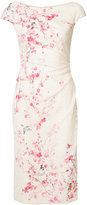 Monique Lhuillier floral print dress - women - Silk/Polyamide/Spandex/Elastane - 14