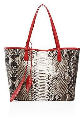 Nancy Gonzalez Women's Erica Crocodile-Trimmed Python Tote
