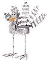 Mud Pie Thanksgiving Galvanized Tin Standing Turkey Tea Light, Small