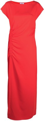 P.A.R.O.S.H. Ruched Detail Long Dress