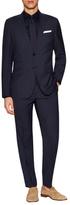 English Laundry Wool Checkered Peak Lapel Suit