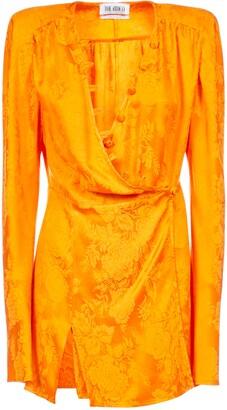 ATTICO Floral Jacquard Dress
