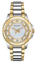 Bulova Women's Diamond Accent Two-tone BraceletWatch