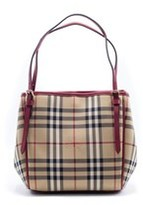 Burberry Womens Small Horseferry Check Mini Canterbury All Over Tote.