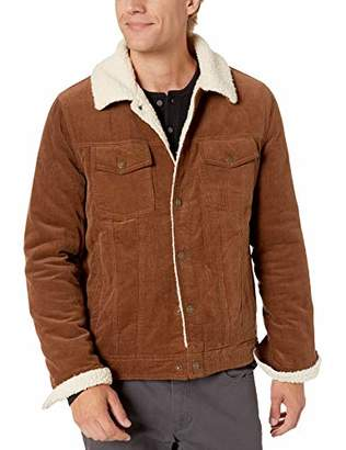 GUESS Men's Corduroy Jacket with Sherpa Collar