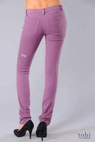 Ksubi Super Skinny Zip Jeans in Grape Overdye