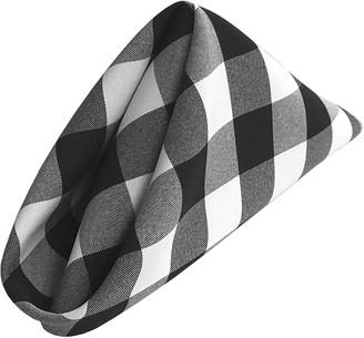"""LA Linen 10-Pack Checkered Napkins 18"""" x 18"""""""