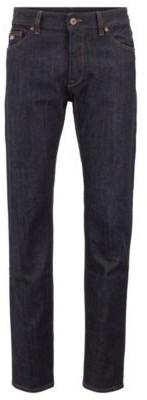 HUGO BOSS Regular Fit Jeans In Stretch Denim - Dark Blue