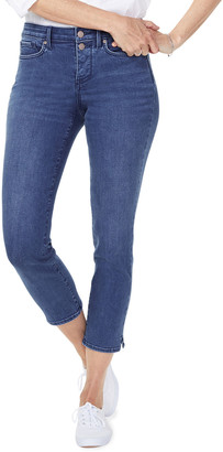 NYDJ Sheri Slim Ankle Jeans w/ Mock Fly