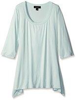 Karen Kane Women's Plus-Size 3/4 Sleeve Handkerchief Top