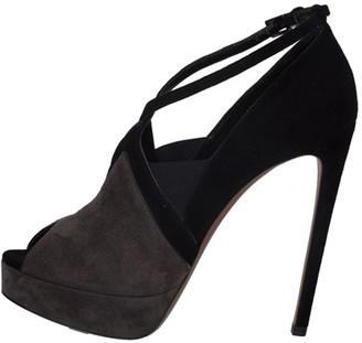 Alaia Black Suede Platform Peep Toe Pumps Size 37