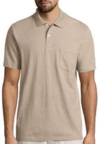 ST. JOHN'S BAY St. John's Bay Short-Sleeve Pocket Polo Shirt