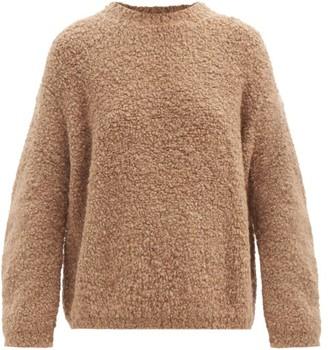 LAUREN MANOOGIAN Curved-sleeve Alpaca And Wool-blend Boucle Sweater - Brown