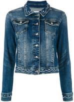 Twin-Set embellished denim jacket - women - Cotton/Spandex/Elastane - L