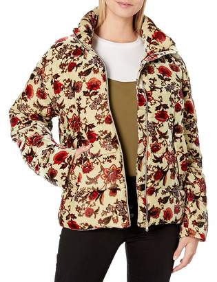 For Love and Liberty Love & Liberty Women's Velvet Puffer Jacket