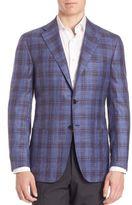Kiton Cashmere Blend Plaid Sportscoat