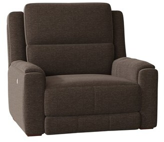 Dazzle Wall Hugger Recliner Southern Motion Body Fabric: Wild Side Sable, Reclining Type: Power Plus