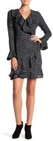 Collective Concepts Long Sleeve Ruffle Trim Wrap Dress
