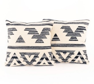 Pottery Barn Ezra Cotton Pillow - Set Of 2