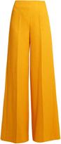 Emilia Wickstead Rodeo chevron-matelassé wide-leg trousers