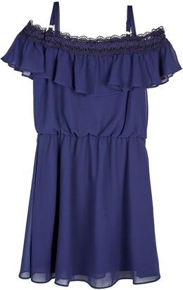 Amy Byer Girls 7-16 & Plus Size IZ Crochet Off-the-Shoulder Dress