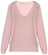 Marni Contrasting-stitch cashmere sweater