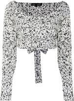 Proenza Schouler cropped wrap top - women - Cotton - 2