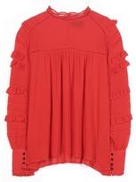 Isabel Marant Qimper Ruffled Stretch-silk Blouse