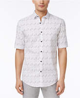 Alfani Big and Tall Men's Vertical Striped Shirt, Created for Macy's