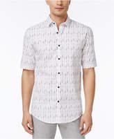 Alfani Big & Tall Men's Vertical Striped Shirt, Created for Macy's